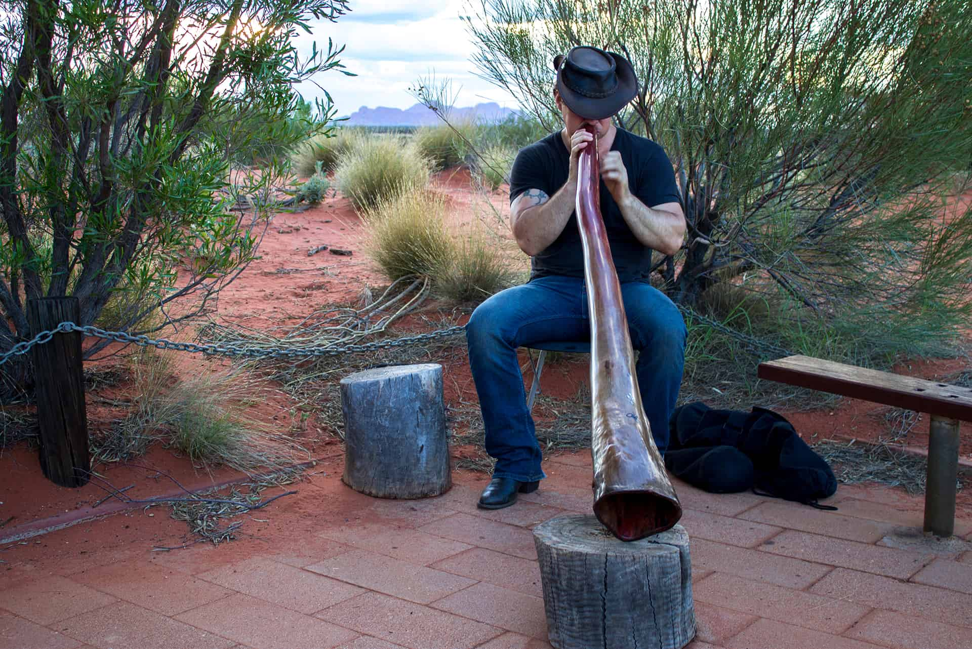Aboriginal wind instrument called didgeridoo