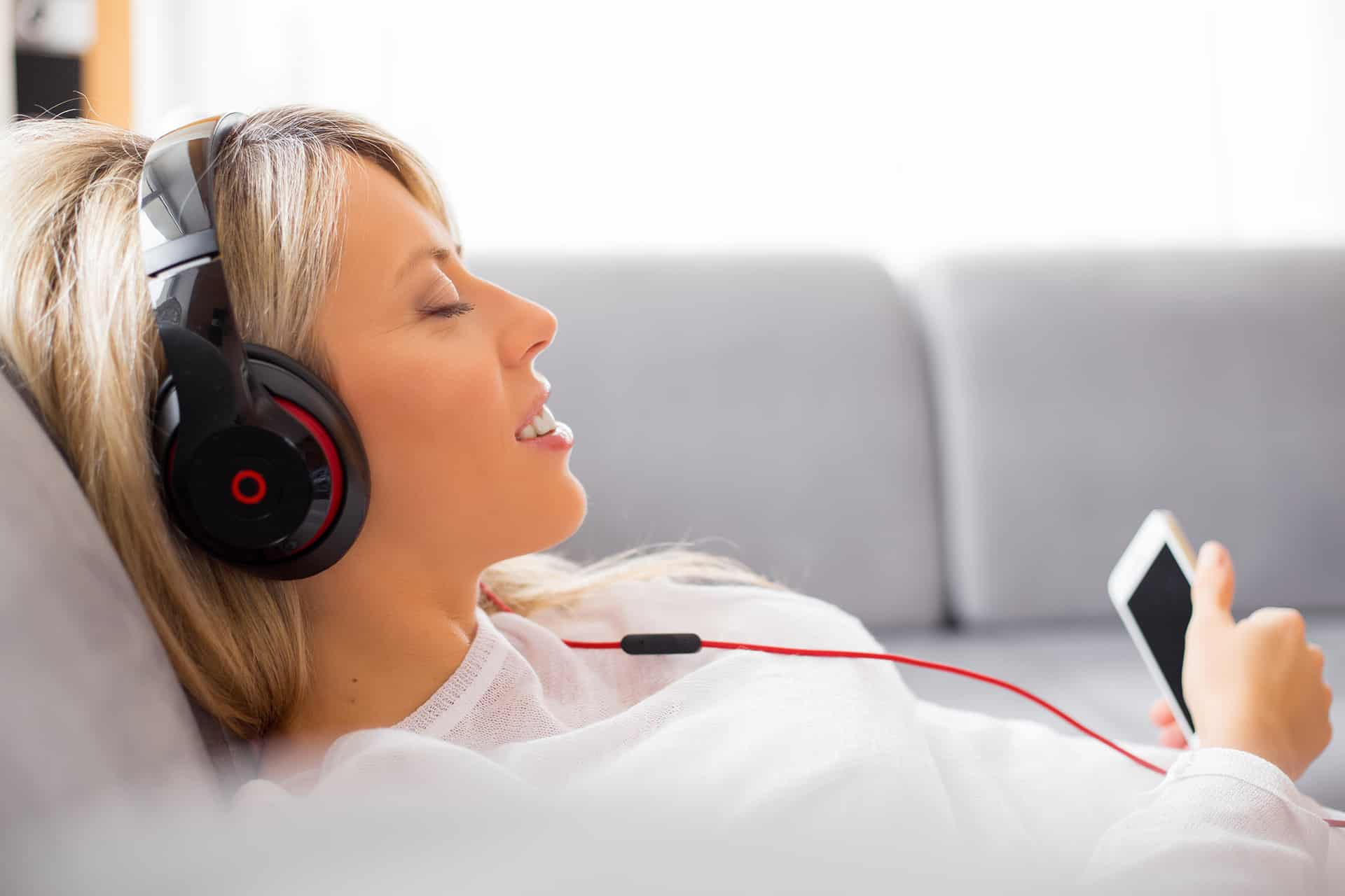 Sleep listening to music