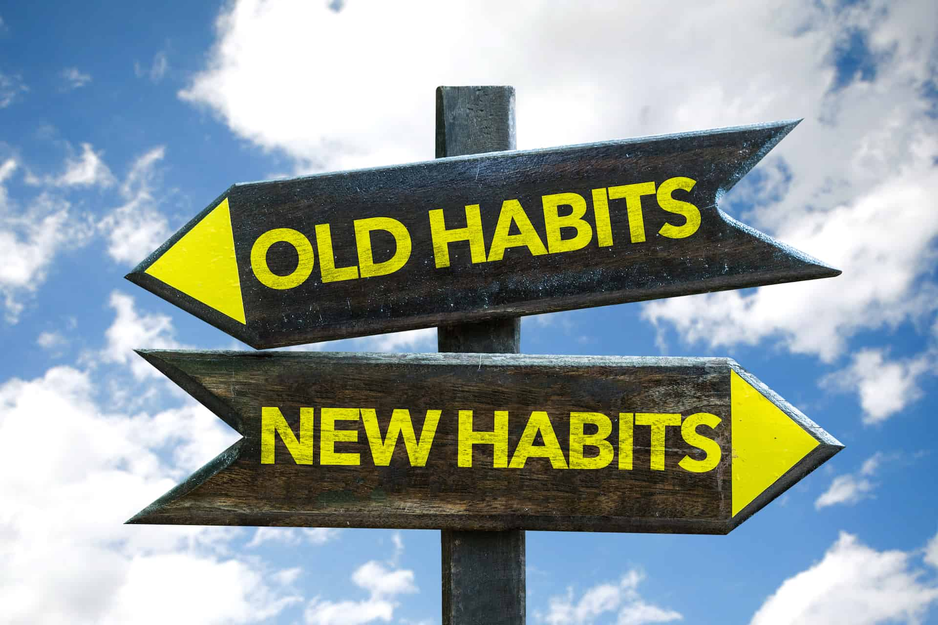 old habits changing to new habits